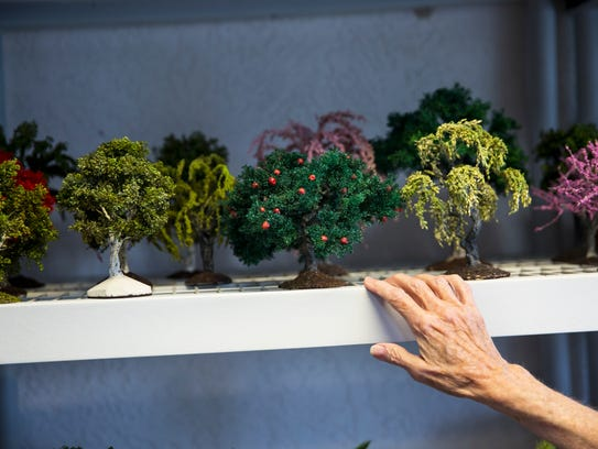 Marilyn Heath Laufer displays her collection of handmade