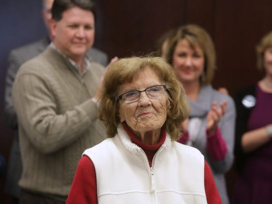 The Schweitzer Brentwood Branch Library was renamed in honor of Jewell Schweitzer, who donated $1.2 million to its renovation.