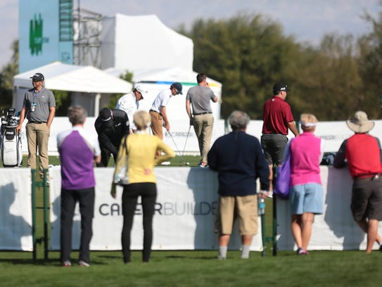 The scene at the CareerBuilder Challenge on Wednesday,