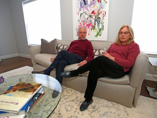 Peter Schwartz and Sheila Chervin in their new home
