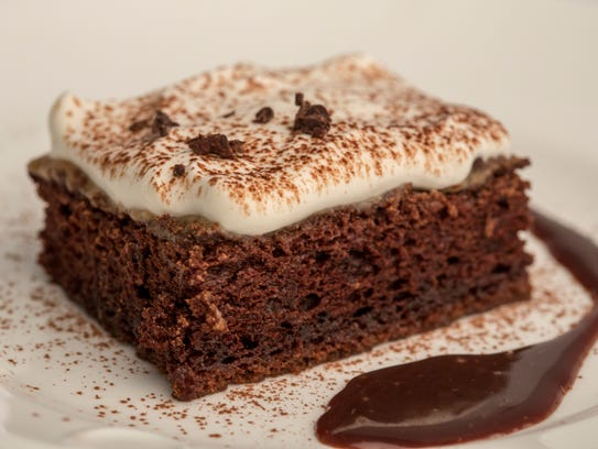 Dark chocolate Tres Leches cake, photographed Thursday,