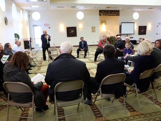 Islamic Center of Rockland trustee Azeem Farooki speaks