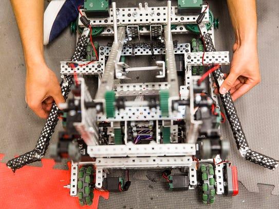 Immokalee High School Robotics Team senior Kristian