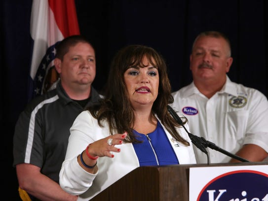 Kristi Fulnecky at a campaign event on September 15,