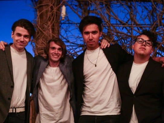 (From the left) James Johnson, Max Powell, John Clark,