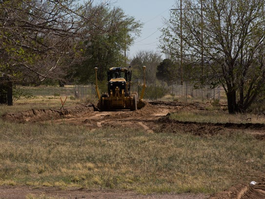 Crews work on what was once the Las Cruces Country Club property on March 30, 2017. The city is working with neighbors to create a larger plan for the area — what would residents like to see, what were their worries and suggestions, what would the future hold?