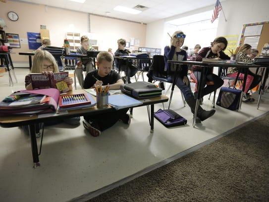 Paige Devorachek and Sebastian Maynard, both fifth-graders,