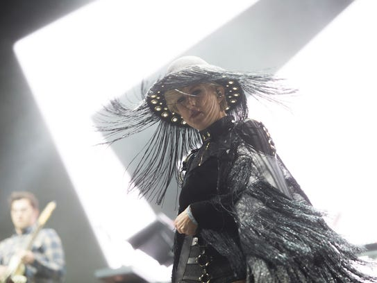 Phantogram performs on the Outdoor Stage during the