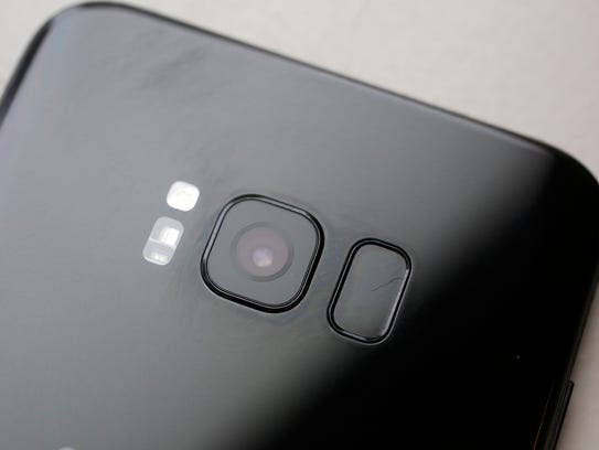 The fingerprint sensor is in the rear, next to the