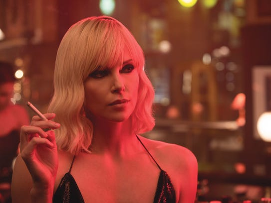 "Charlize Theron is an MI6 assassin in ""Atomic Blonde,"""