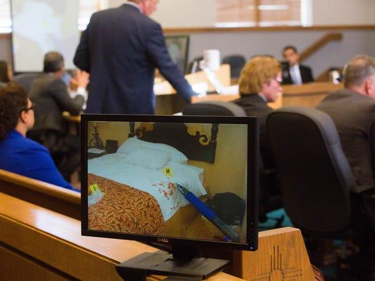 Tom Clark, defense attorney for Tai Chan, cross examines