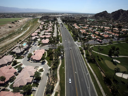 View of Highway 111 in Indian Wells from a Big Blue