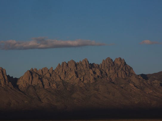 The Organ Mountains, from the East Mesa. Thursday May