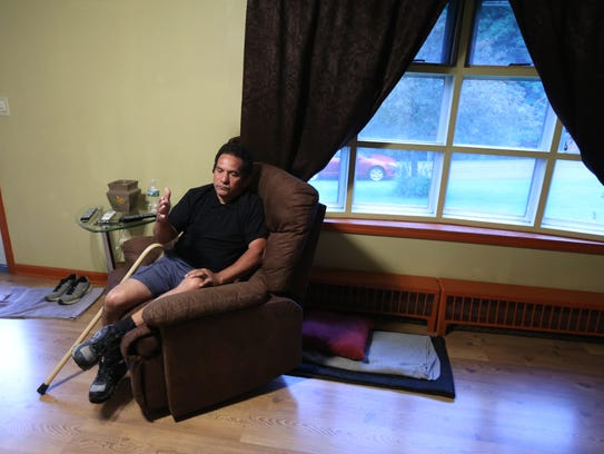 Raul Laguerre at his Newburgh home May 22, 2017. His