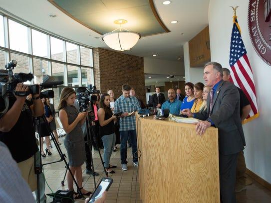 Third Judicial District Attorney Mark D'Antonio speaks
