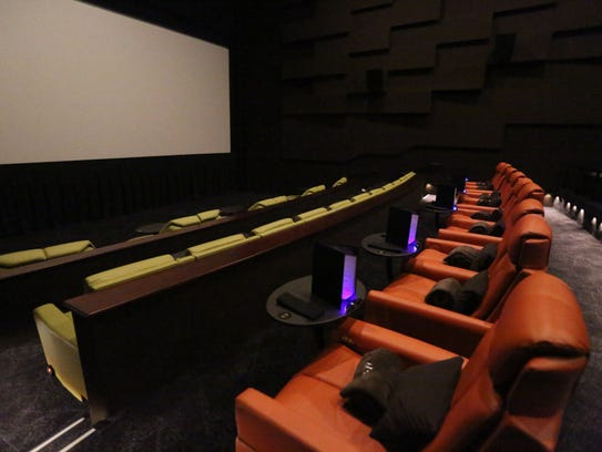 The luxury seating in one of the theaters at the iPic