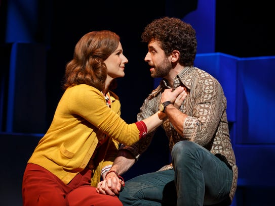 "Stephanie J. Block and Brandon Uranowitz in ""Falsettos."""