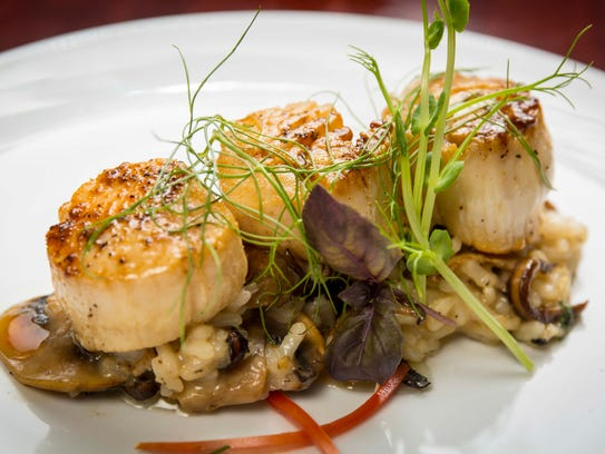Scallops at Trostel's Greenbriar at  5810 Merle Hay
