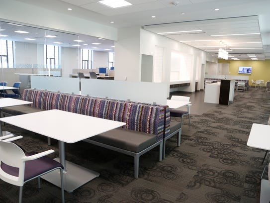 Kitchenettes and dining space are on each floor Tuesday,