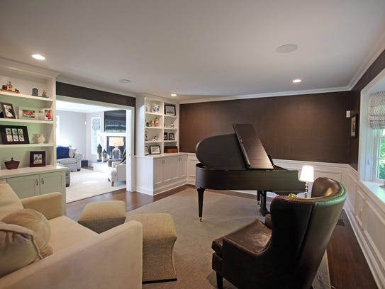 This is a view of a custom designed sitting room at