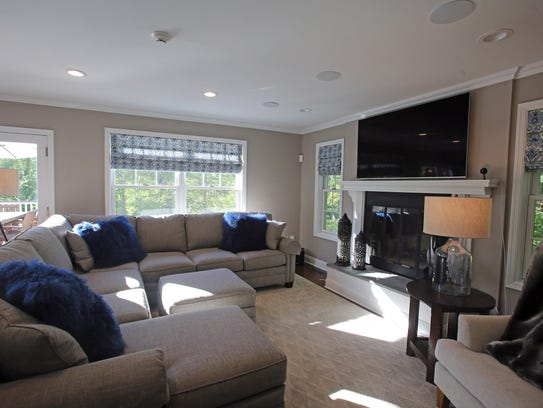 This is a view of a custom designed living room at