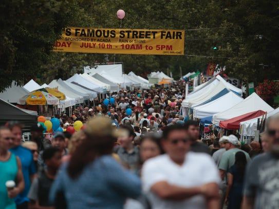 Thousands of people came out to enjoy the Nyack Street