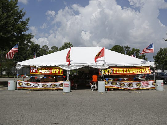 This TNT Fireworks tent in the parking lot of the Walmart
