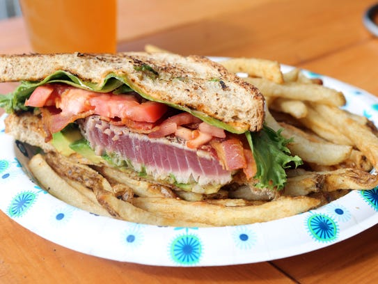 The Wicked tuna sandwich at Barley on the Hudson in
