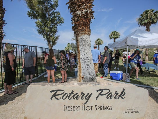 Desert Hot Springs opened Rotary Park, the new and