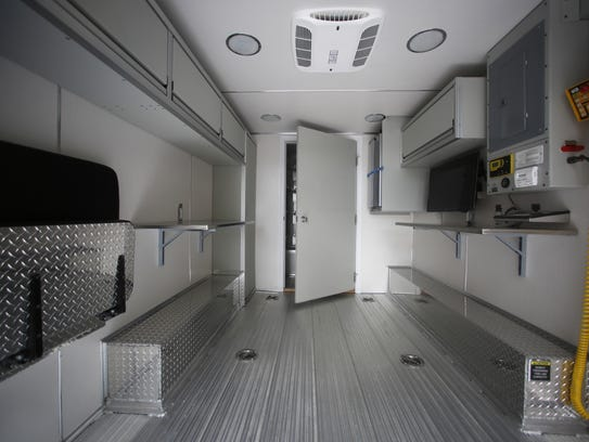 The control room on the Fire Department's new Haz-Mat