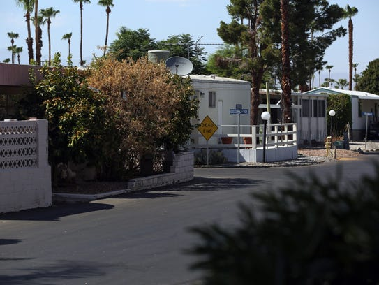 Tramview Mobile Home Park in Cathedral City on Thursday,
