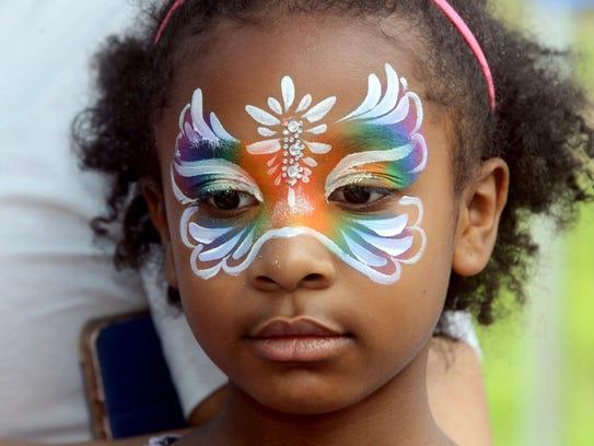 Liana Benton, 8, was among the many children who had