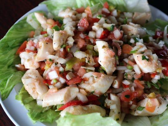 Octopus salad at El Castillo Restaurant and Grill.