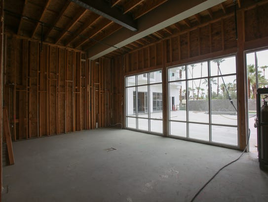 Hotel Paseo's boardroom under construction on Tuesday,