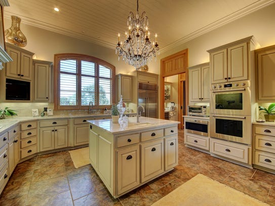 The fabulous kitchen has everything a chef could want.