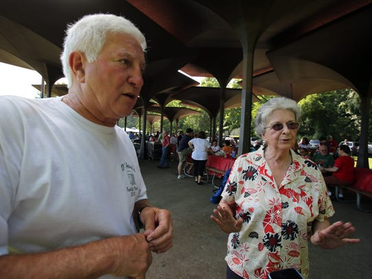 Cousins Pat Faia, a retired Yonkers detective, left,