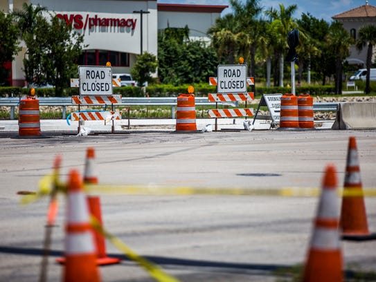 Construction at the intersection of Immokalee Road