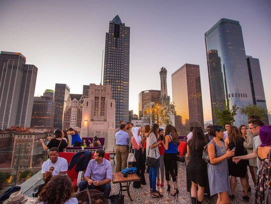 A rooftop bar and restaurant, Perch, in downtown Los