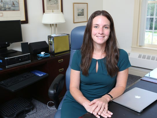 Christine Ackerman, the superintendent at Chappaqua