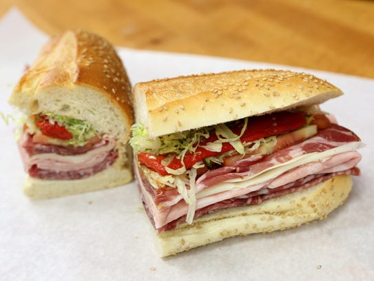 The Italian Combo, made with imported meats, at the