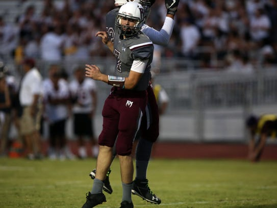 Rancho Mirage and La Quinta football action on Friday,