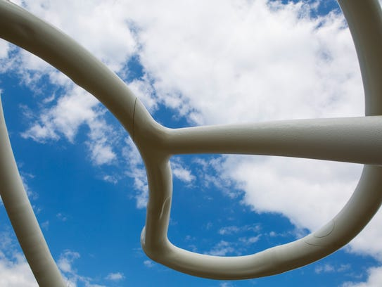 'The Delaware Root' a sculpture created by artist Steve
