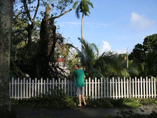 File photo shows downed trees and debris at the Edison & Ford Winter Estates on the day after Hurricane Irma. The historic attraction sustained no damage to its structures. Its landscape is once again tidy, with the entire campus open for business.