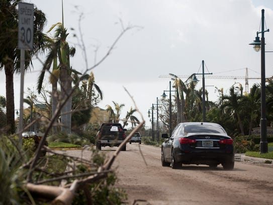 One day after Hurricane Irma passed through the state