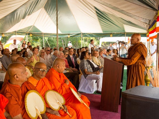 A temple groundbreaking ceremony was held Sept. 16