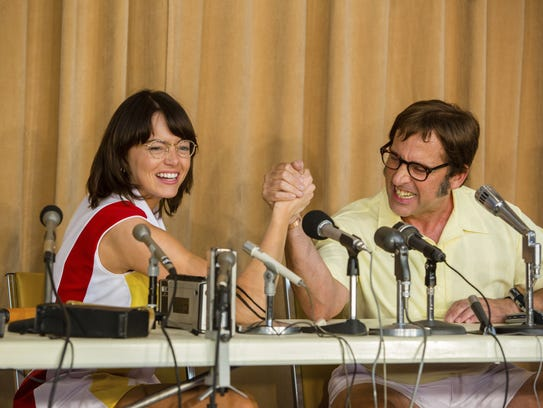 """Friday: Emma Stone and Steve Carell star in """"Battle"""