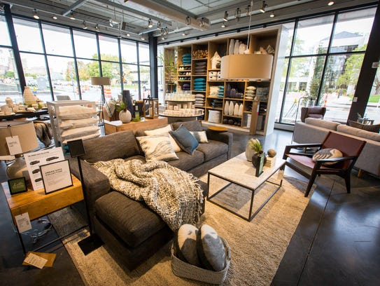 Sofa collection in the new West Elm store in the East
