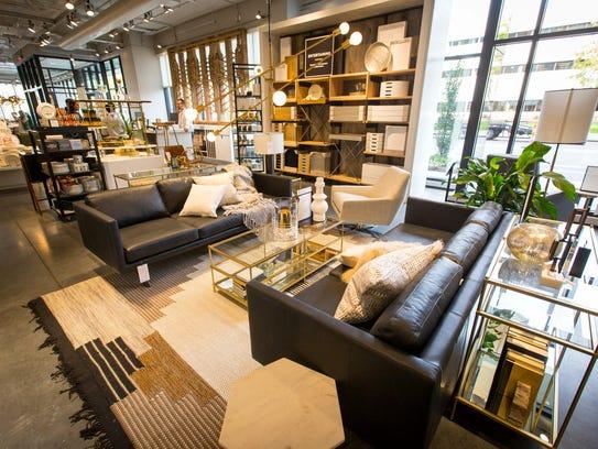 West Elm sells furniture, bedding, rugs, lighting,
