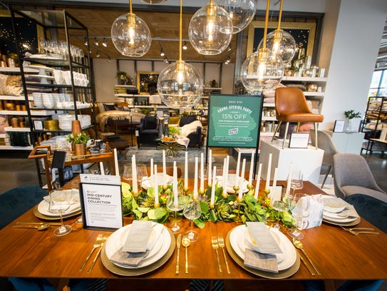 West Elm's 11,000-square-foot store is filled with