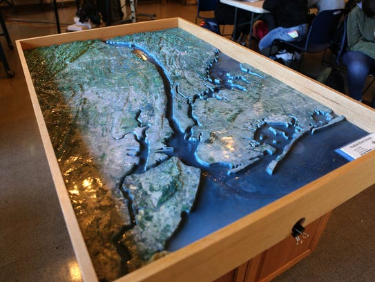 A map of metro New York showing the Hudson River and